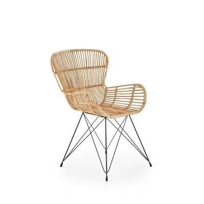 Fém vázas szék rattan ülőrésszel - INDOCHINE